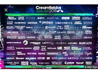 x2 Creamfield 4 Day Standard Camping Tickets