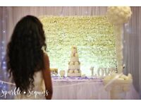 Wedding Flower wall hire