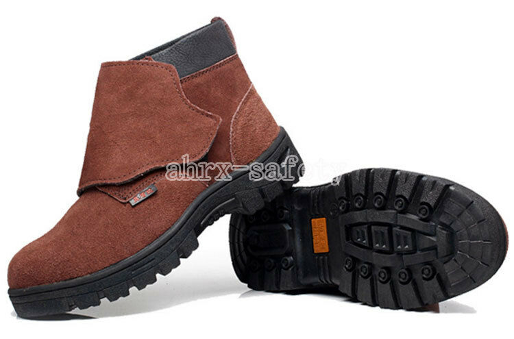 aeb817bf2f2 Details about Men's Work Safety Shoes Steel Toe Welding Boots Leather  Welder Protective Shoes