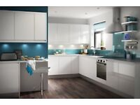Gloss white kitchen units x 10 complete set plus SOFT CLOSE HINGES Budget priced Best quality...