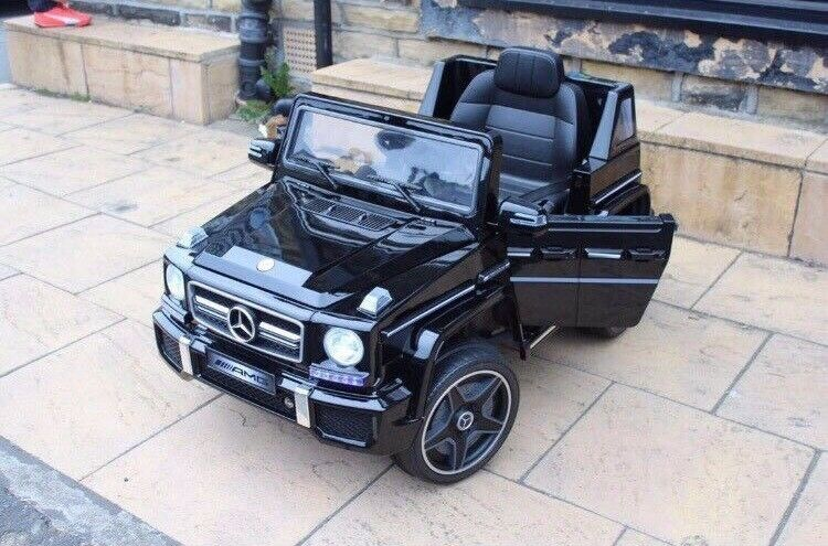 Licensed Mercedes 12v G63 G Wagon Ride On Car With Remote Control Music And Lights
