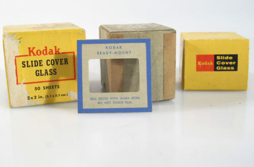 KODAK SLIDE COVERS and CARDBOARD COVERS, MIXED LOT- GLASS COVERS
