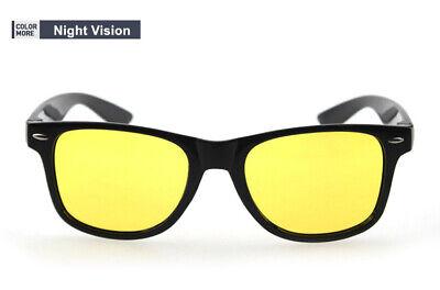 Gafas Negras Visión Nocturna Lentes Amarillas Conducir de Noche - ENVÍO GRATIS!