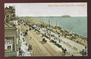 Sussex-BRIGHTON-Kings-Rd-Palace-Pier-1912-PPC