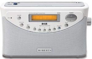 NEW-ROBERTS-GEMINI-45-FM-DAB-RDS-WHITE-SILVER-DIGITAL-RADIO-9-STATION-PRESETS