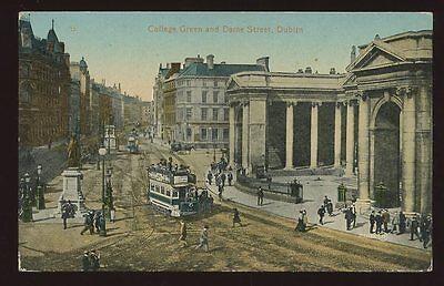 Ireland DUBLIN College Green & Dame St PPC
