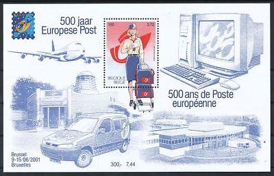 TIMBRE STAMP ZEGEL BELGIQUE BL 91 500 ANS POSTE EUROPEENNE 3001  XX