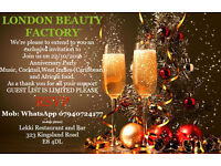 London Beauty Factory End of year party