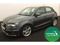 £224.27 PER MONTH GREY 2013 AUDI A1 1.6 TDI S LINE 5 DOOR DIESEL MANUAL