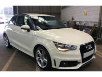 WHITE AUDI A1 1.0 1.2 1.4 T FSI SE SPORT S LINE BLACK EDITION FROM £41 PER WEEK!