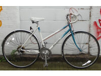 Vintage Ladies racing bike RALEIGH frame 20inch - Serviced & warranty - NEW TYRES BRAKES CABLES