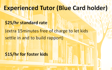 Back to School catch up / prep lessons (Blue card holder)