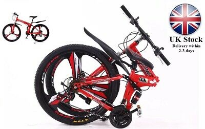 Foldable Mountain Bike 26 Inch Bicycle Full Suspension Bike Shimano 21 Speed