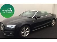 £293.79 PER MONTH AUDI A5 CABRIOLET 1.8TFSI 170 S LINE CONVERTIBLE PETROL MANUAL