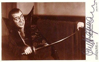 LUDWIG HOFMANN opera bass signed photo as Mephistopheles in Faust