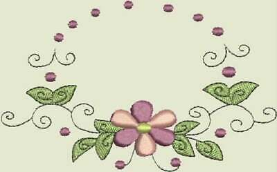 Monogram Frame Embroidery Design Floral Machine Embroidery