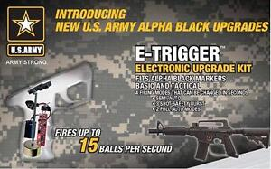 Tippmann U.S. Army E-Grip Electronic Kit Alpha Black Project Salvo e-trigger