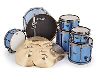 Tama SuperStar Hyperdrive drum kit complete with Zildjian Project 391 Sound Lab cymbals and hardware