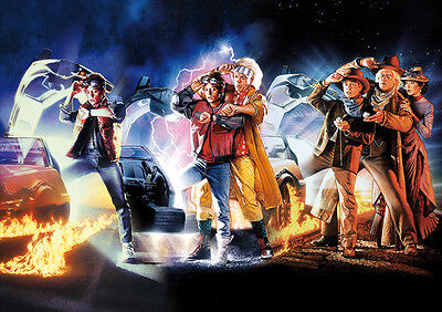 Zurück in die Zukunft I-III Film Poster A1 59,4 x 84,1 cm - Back to the Future