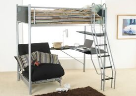 Hyder Cosmic Studio Bunk Bed for sale in excellent condition. Ideal for teenagers. Futon mattress