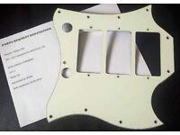 Gibson SG Custom 3 pickup batwing pickguard (3 ply white/black/white)