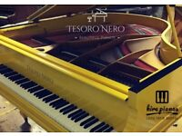 SELF PLAYING - BRAND YELLOW SG148 STEINHOVEN BABY GRAND PIANO - COLOUR CHANGE SERVICE