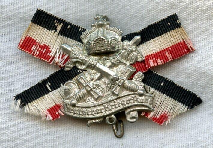 Imperial German Veterans Bund Badge Made in Berlin