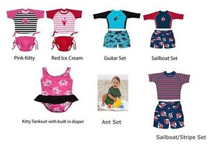 NWT-IPLAY-INFANT-TODDLER-SWIMSUITS-WITH-BUILT-IN-SWIM-DIAPERS-UPF-50-6M-TO-4T