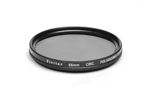 Beautiful Japanese Made 55mm Circular Polarizing Filter with Case, Mint-