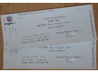 Adam Ant - Glasgow May 7 - BEST TICKETS AVAILABLE! - Face Value - 2x 2nd row Arena Stalls Royal
