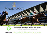 Royal Ascot Tickets -- Read the ad description before replying!!