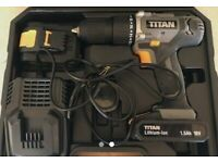 Combi hammer drill with 2 lithium ion batteries