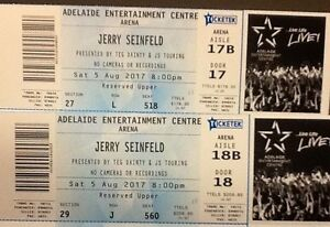 2 X Jerry Seinfeld Tickets Capital Hill South Canberra Preview