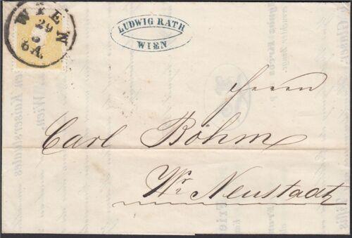 Österreich 1858 Nr. 10 II Drucksache Wiener Neustadt Befund BPP
