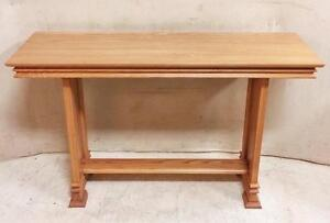 Vintage Oak Carved Console Table