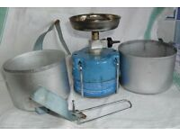 Portable Gaz Globe Trotter 106 camping stove and mess tins