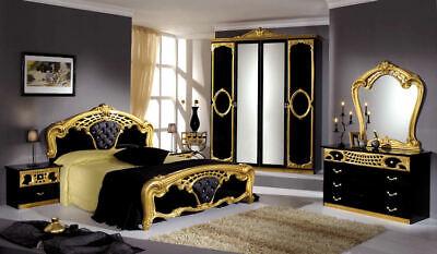 New Original Luxury Sibila Italian High Gloss Bedroom Set