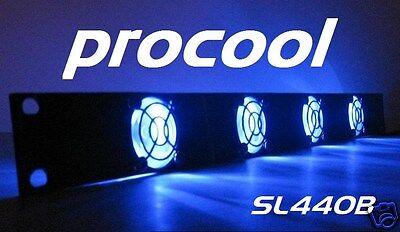 PROCOOL SL480R 2U rack mount fan panel w//4 Red LED fans