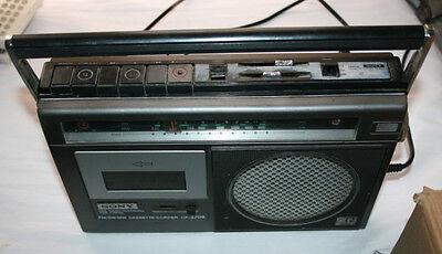 ANTIGUO RADIO CASSETTE SONY CF-370S - 3 BANDAS