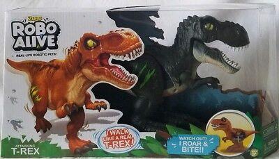 Robo Alive NEW Attacking Jungle Green T-Rex Zuru Robotic Dinosaur Walks Roars