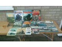 Job lot of books on trains