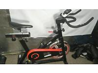 Exercise bike. Spinning bike. Cycling.