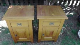 Solid Pine Bedside Cabinets