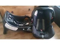 Graco junior car seat (rear facing) and base. Fits Graco mirage travel system