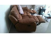 3 seater & 2 seater recliner sofa