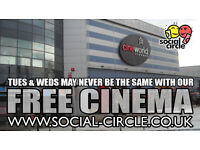 FREE CINEMA EVERY TUESDAY AND WEDNESDAYS STARRING SOCIAL CIRCLE