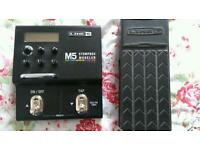Line6 M5 effects unit with Foot Pedal