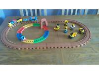 CAT diggers train track and Thomas