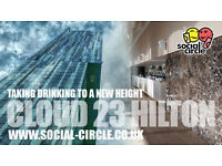 Stylish dining and drinking at CLOUD 23, THE HILTON, DEANSGATE - SATURDAY May 13th at 8.00pm