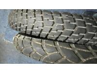 Motorcycle tyres 21 inch front x2